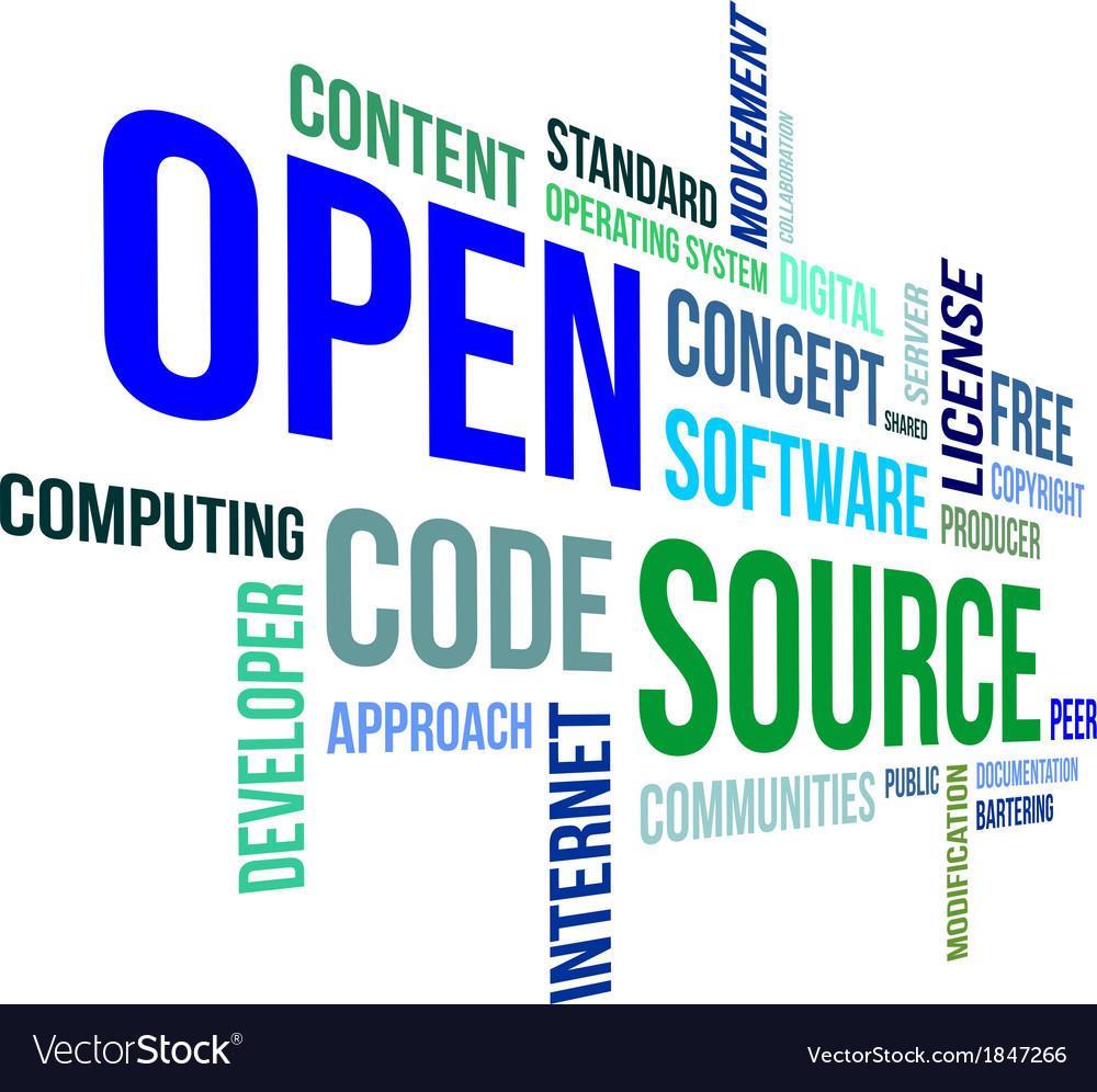 Word cloud open source vector | Price: 3 Credit (USD $3)