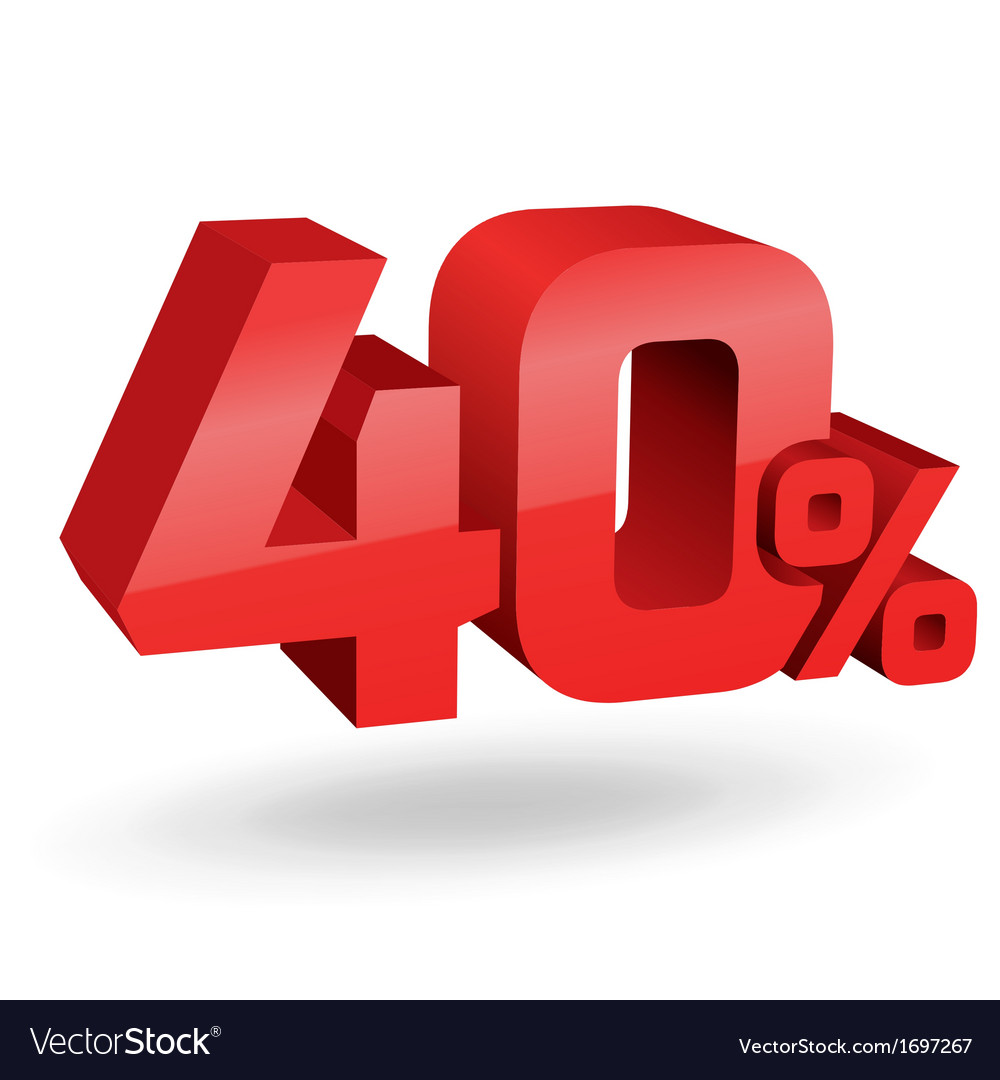40 percent digits vector | Price: 1 Credit (USD $1)