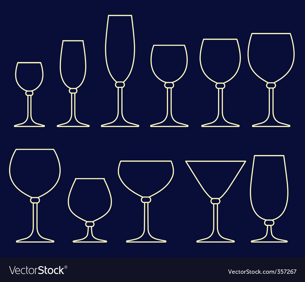 Alcoholic drink glasses vector | Price: 1 Credit (USD $1)