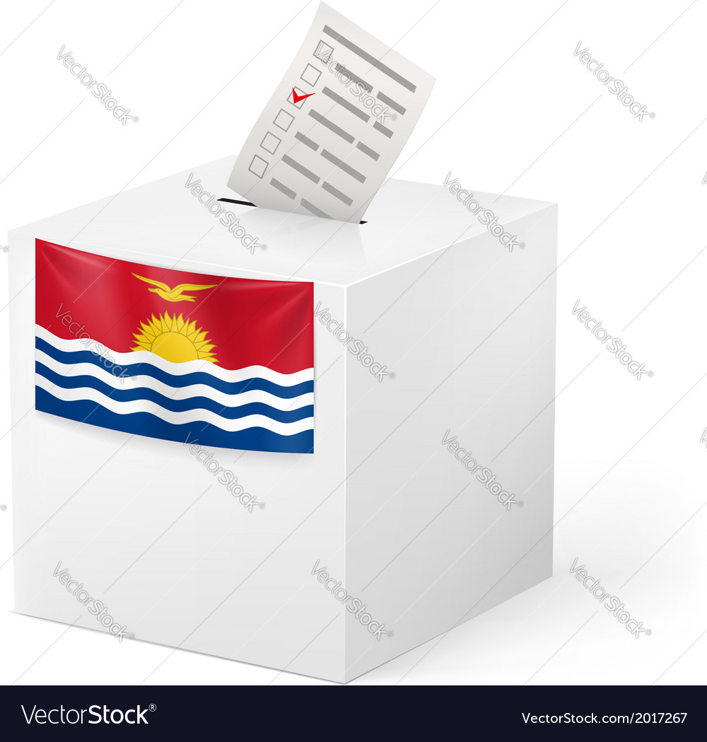 Ballot box with voting paper kiribati vector | Price: 1 Credit (USD $1)