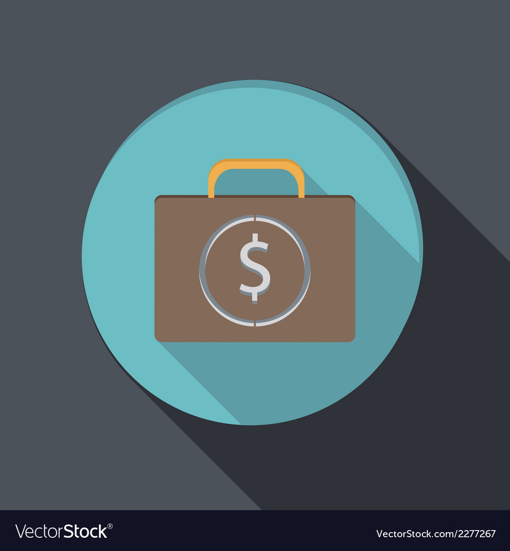 Banking financial icon in flat design vector | Price: 1 Credit (USD $1)