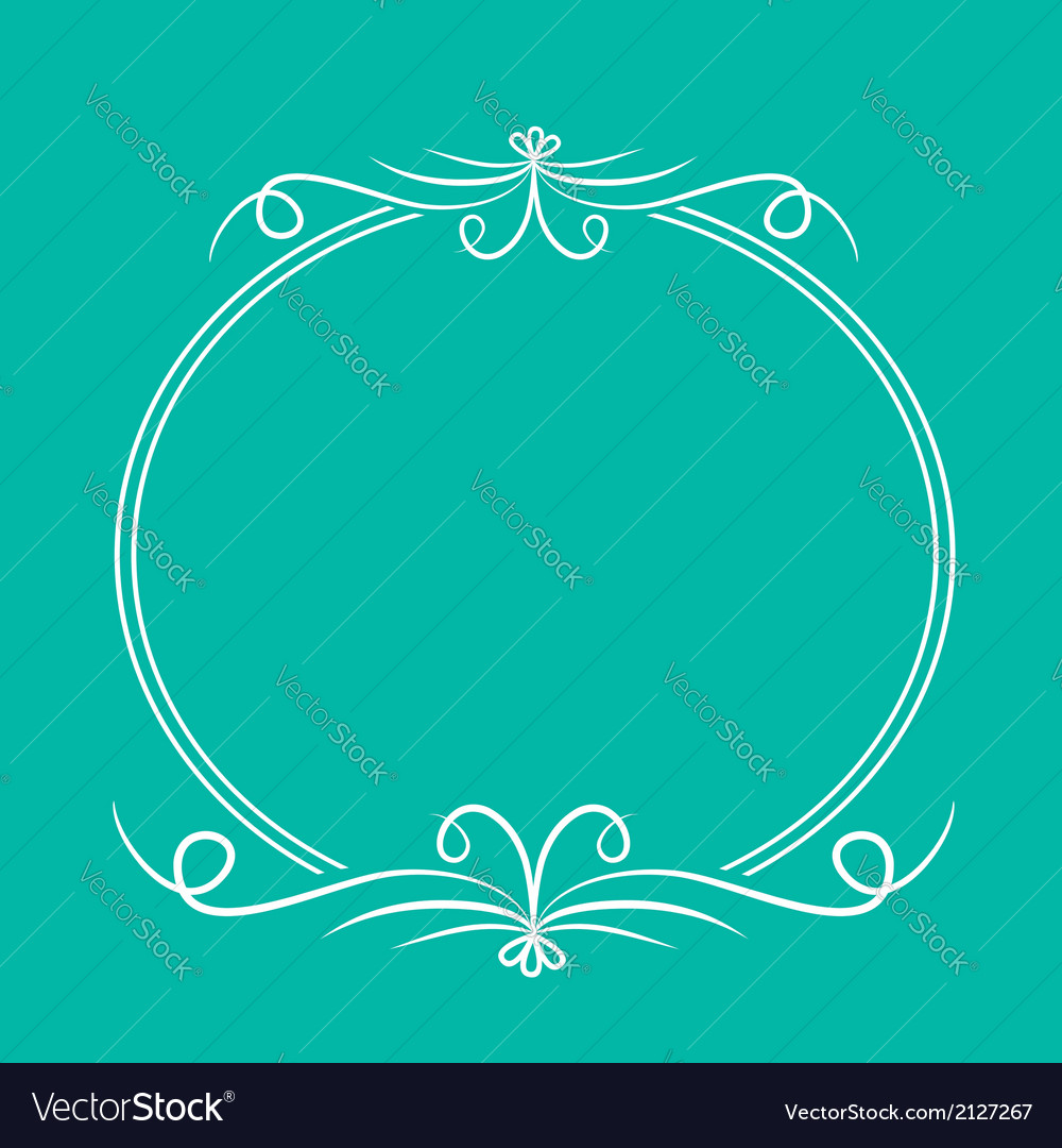 Calligraphic round frame abstract design element vector | Price: 1 Credit (USD $1)