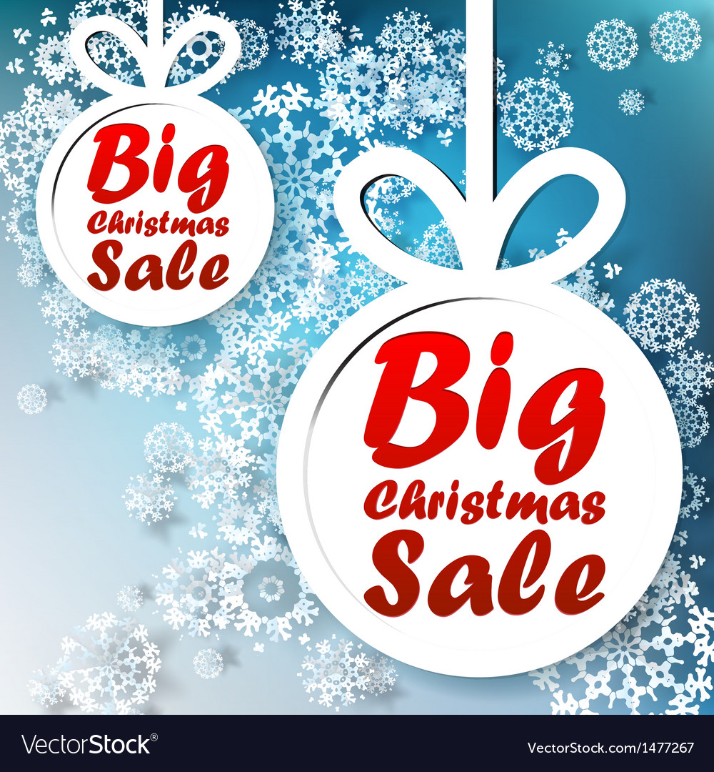 Christmas big sale template with copy space vector | Price: 1 Credit (USD $1)
