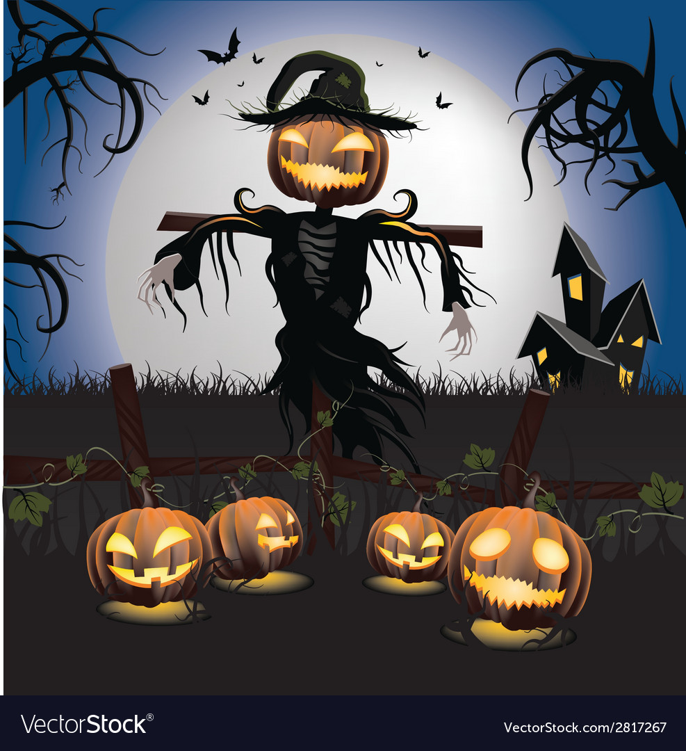 Halloween scarecrow vector | Price: 1 Credit (USD $1)