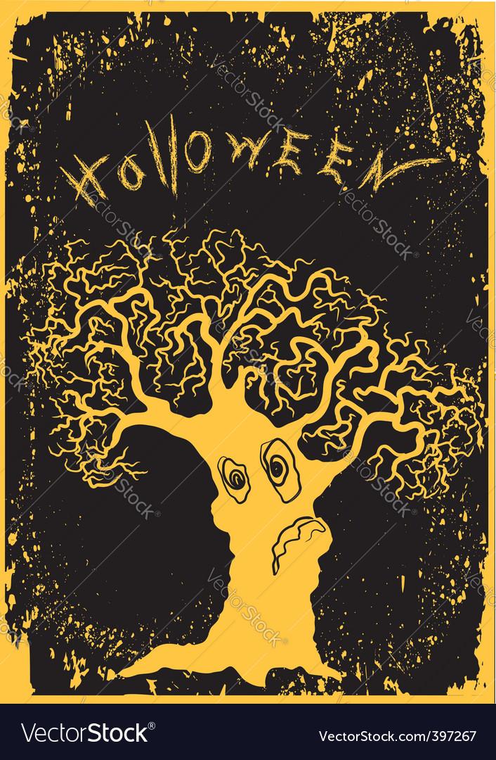Halloween tree vector | Price: 1 Credit (USD $1)