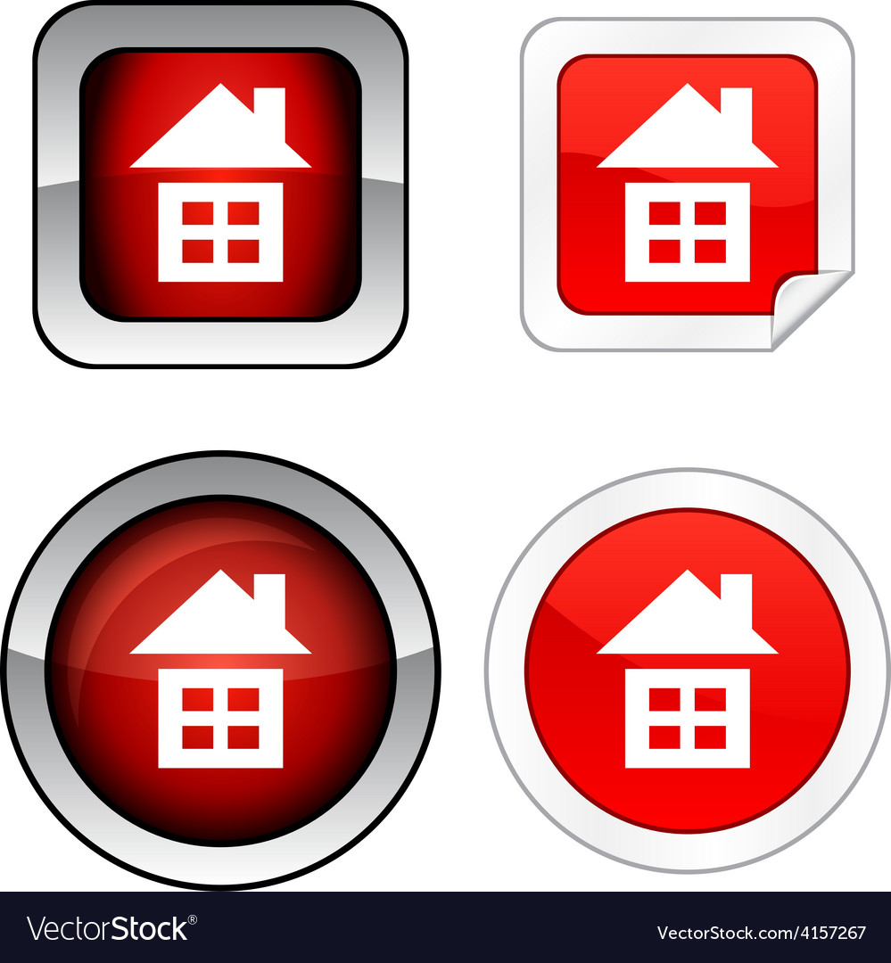 Home button set vector   Price: 1 Credit (USD $1)