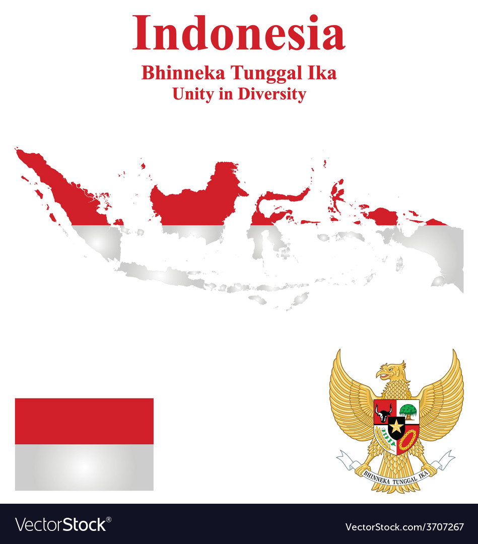 Indonesia flag vector | Price: 1 Credit (USD $1)