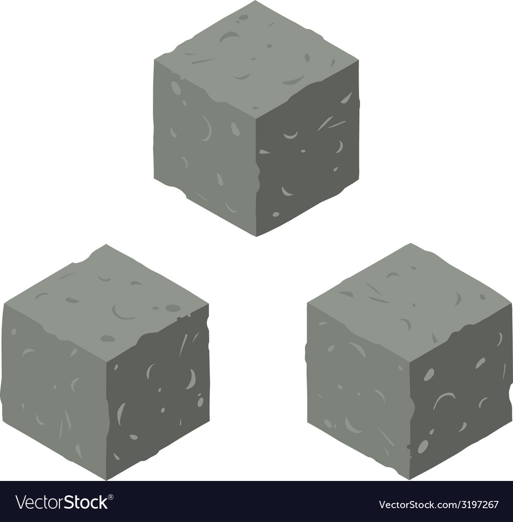 Isometric game brick cubes set vector | Price: 1 Credit (USD $1)