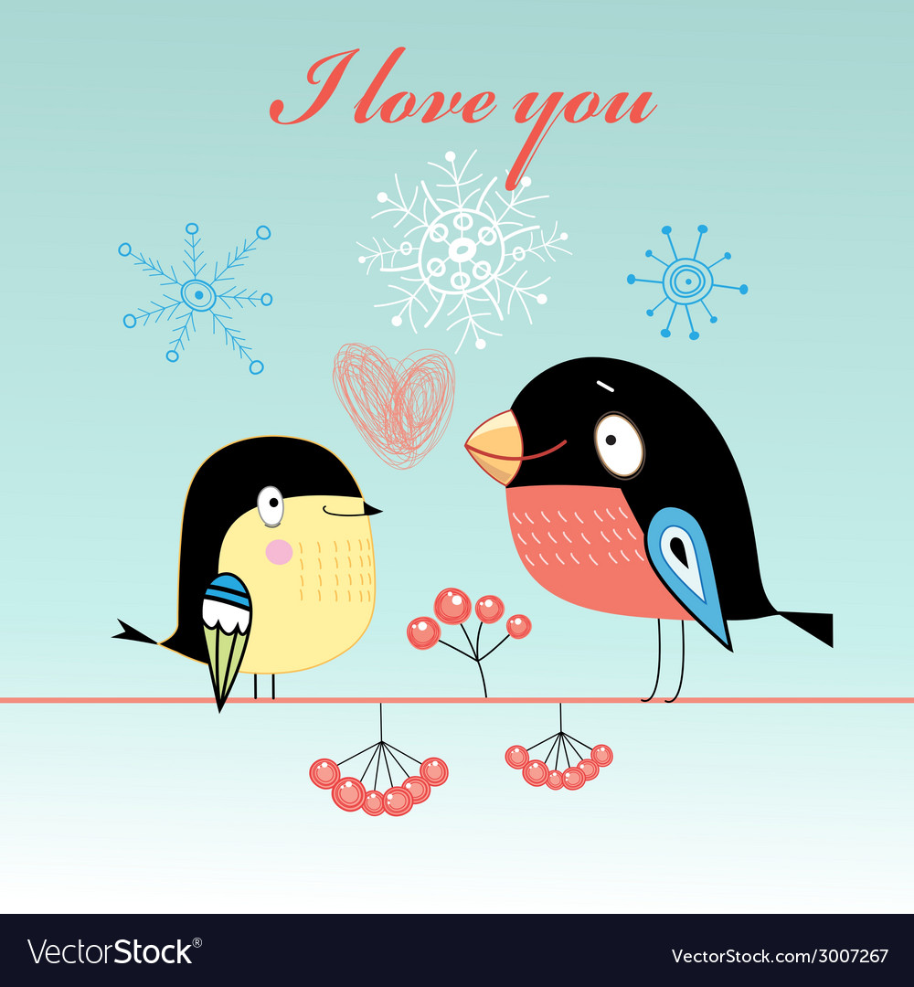 Lovers tit and bullfinch vector | Price: 1 Credit (USD $1)
