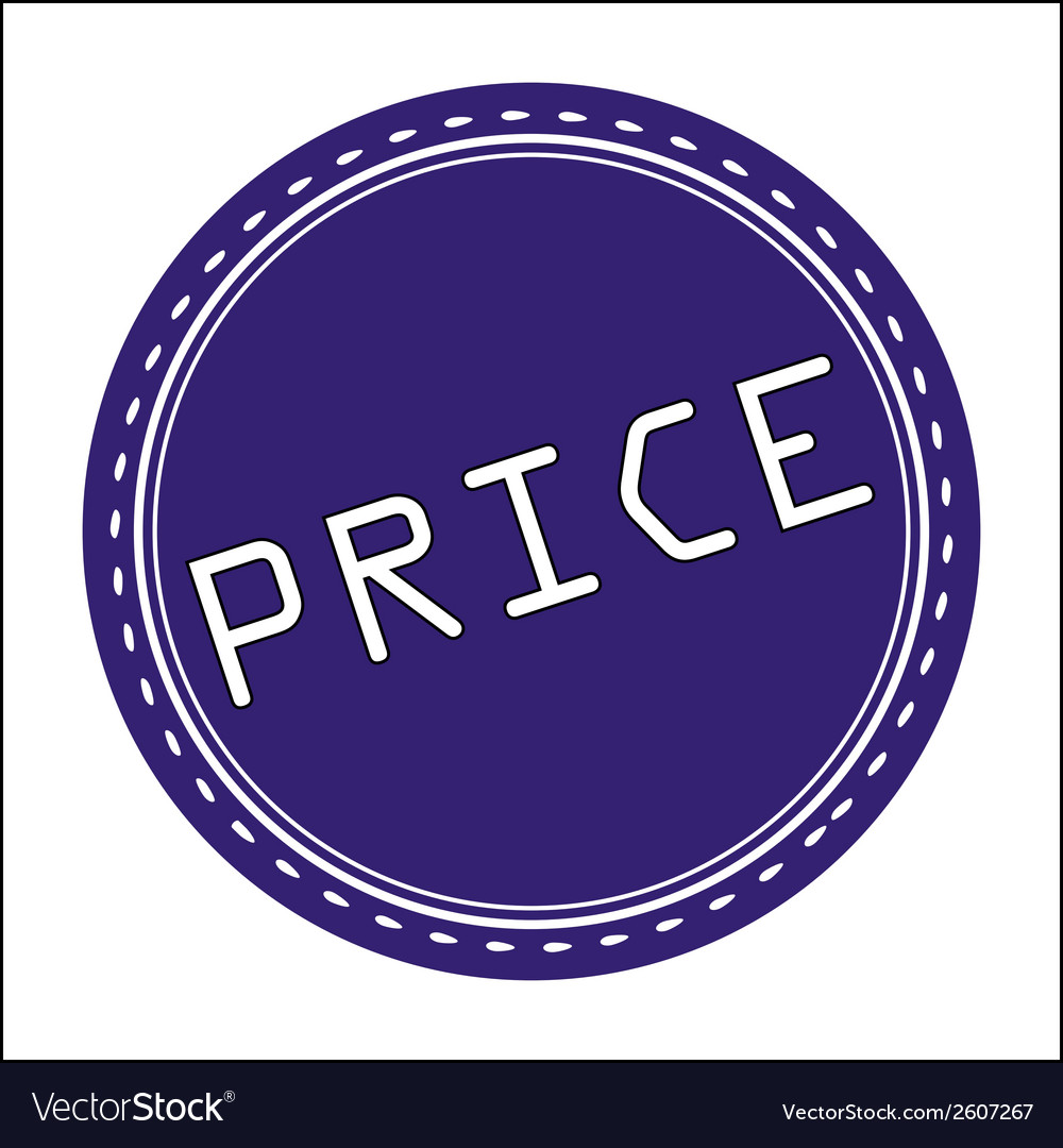 Price icon badge label or sticke vector | Price: 1 Credit (USD $1)