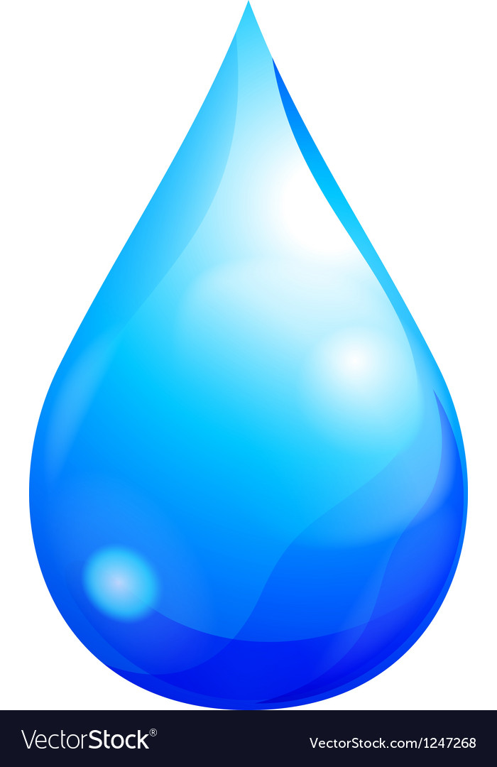 Blue drop vector | Price: 1 Credit (USD $1)