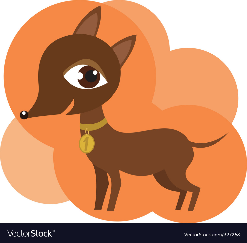 Champion dog vector | Price: 1 Credit (USD $1)