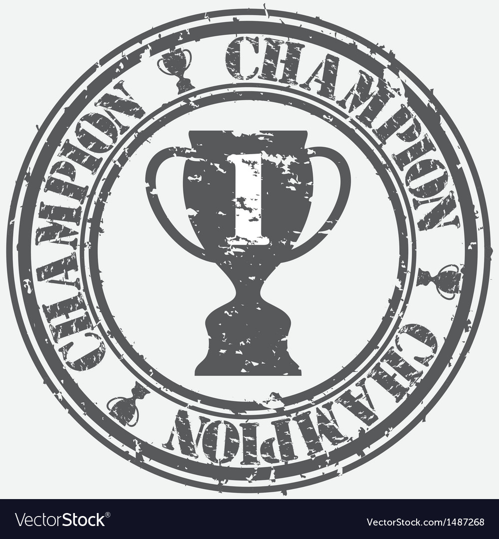 Champion stamp vector | Price: 1 Credit (USD $1)