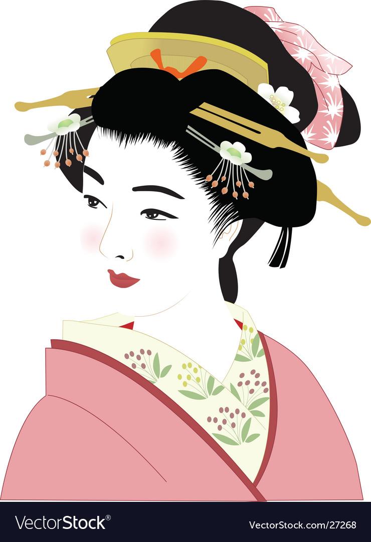Geisha vector | Price: 3 Credit (USD $3)