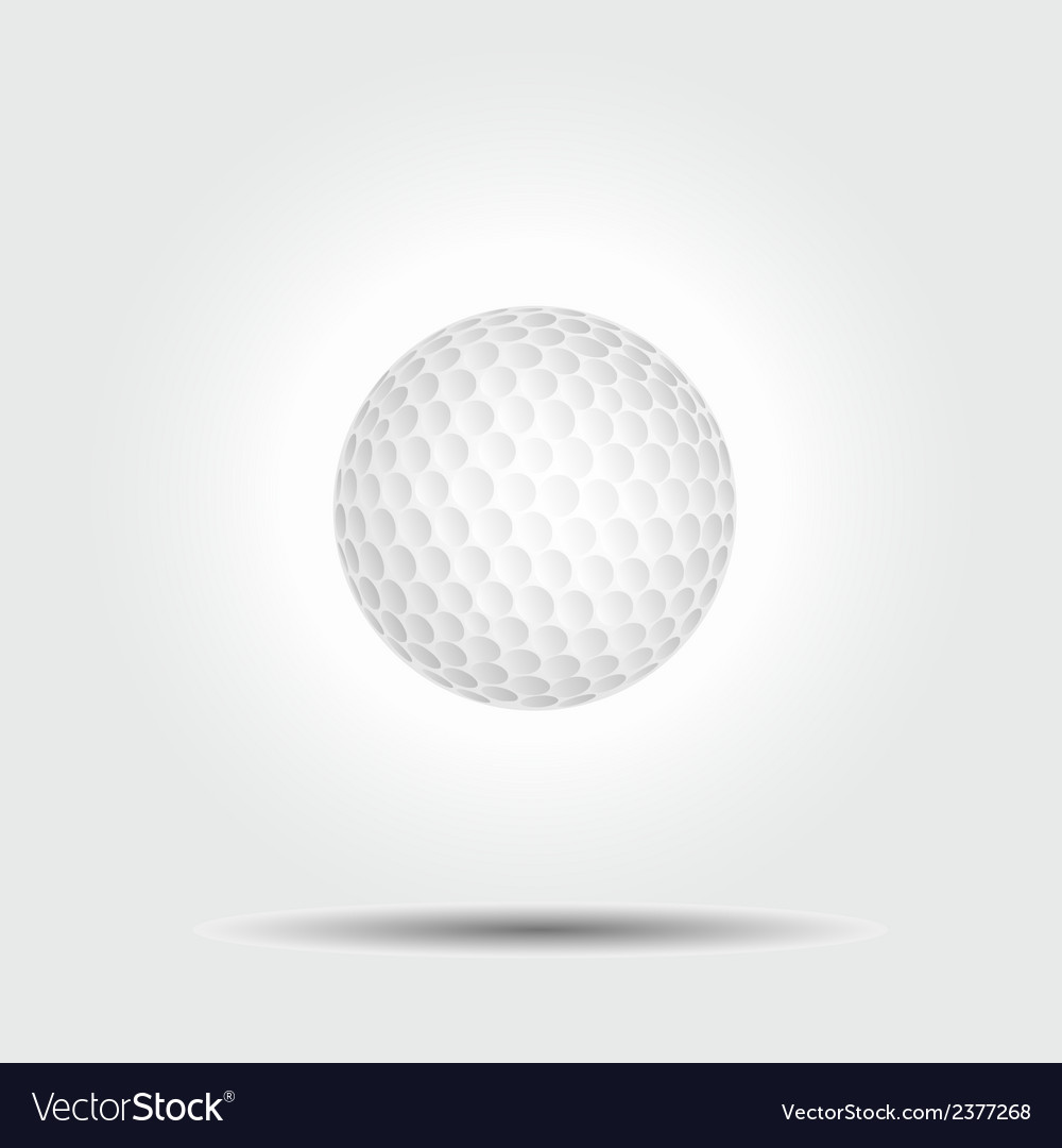 Golf ball on white background with shadow vector | Price: 1 Credit (USD $1)