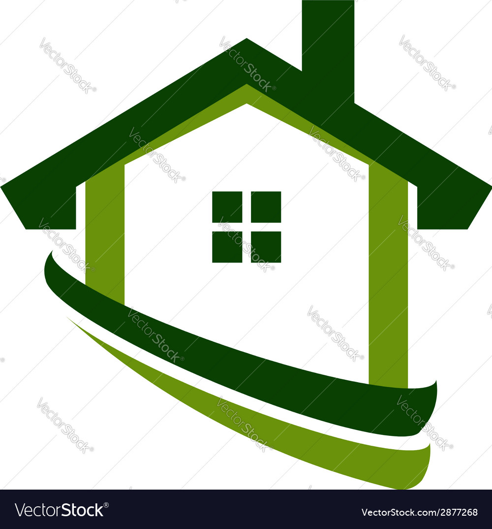 Green house real estate image vector | Price: 1 Credit (USD $1)