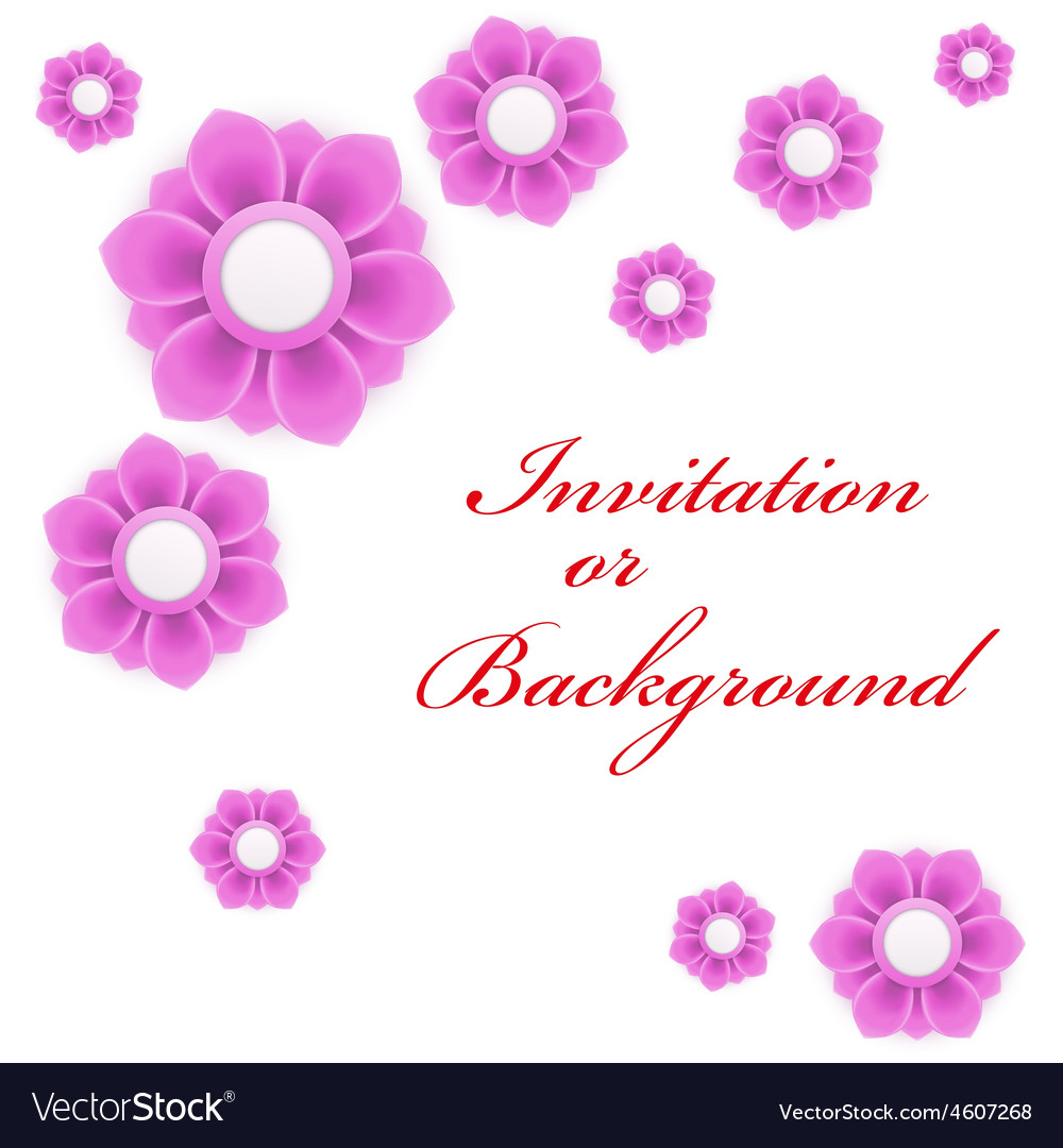 Greeting card or background with light pink flower vector | Price: 1 Credit (USD $1)