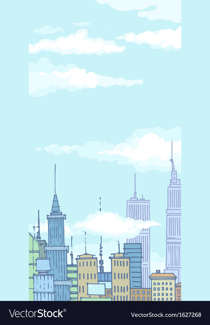 Huge city buildings vector | Price: 1 Credit (USD $1)