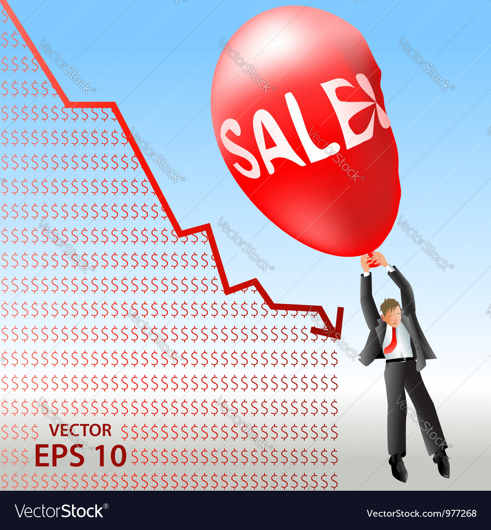 Sales plan disaster vector | Price: 1 Credit (USD $1)