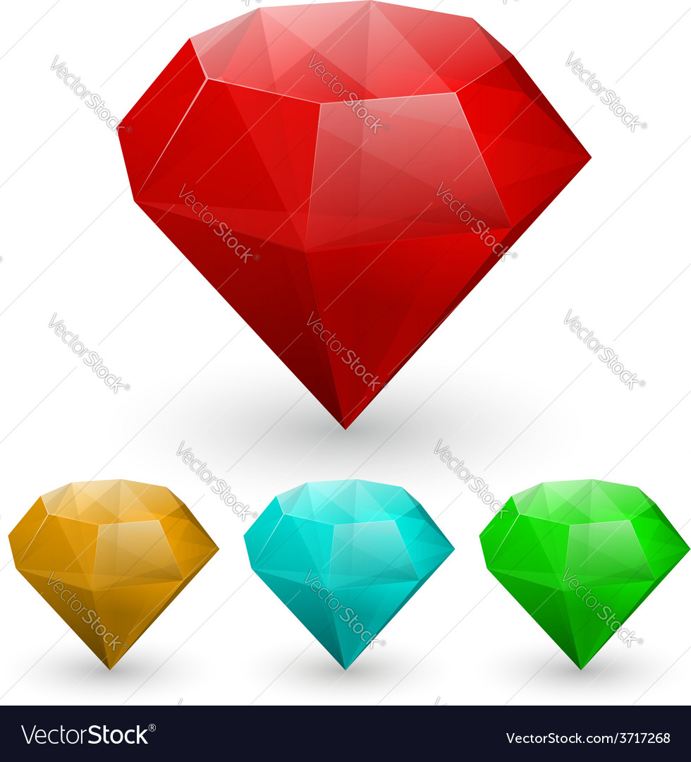 Set of gems vector | Price: 1 Credit (USD $1)