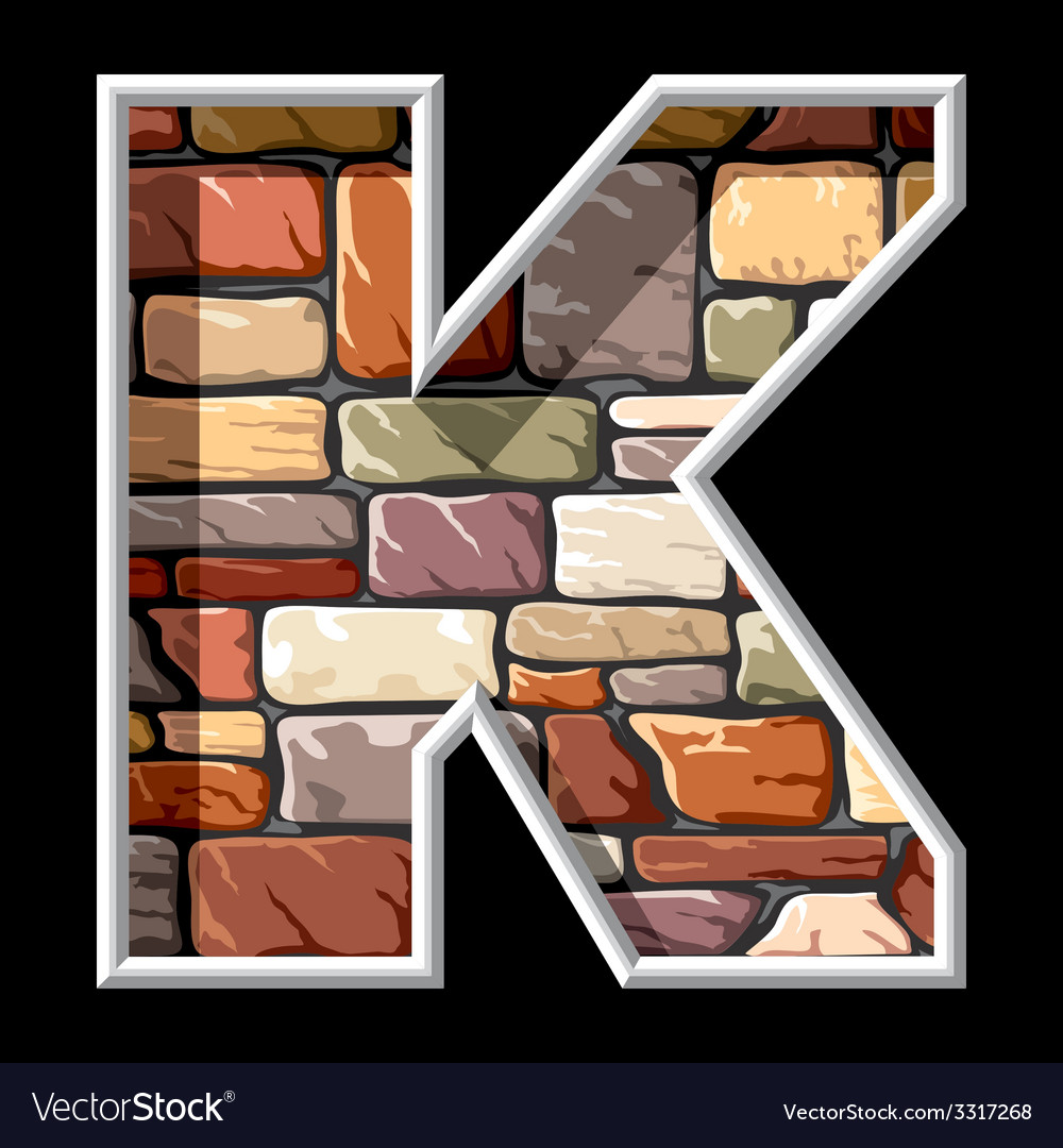 Stone letter k vector | Price: 3 Credit (USD $3)