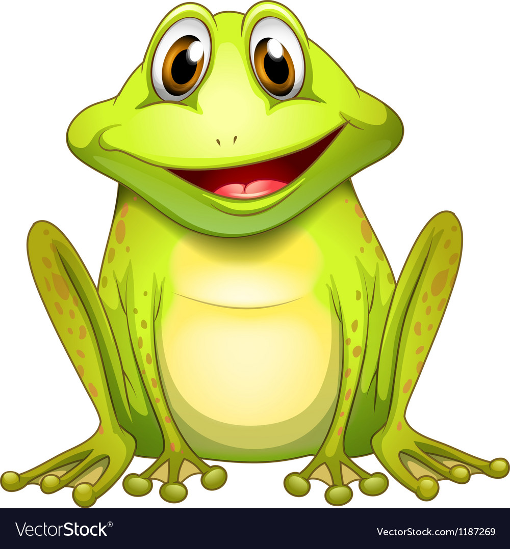 A smiling frog vector | Price: 1 Credit (USD $1)