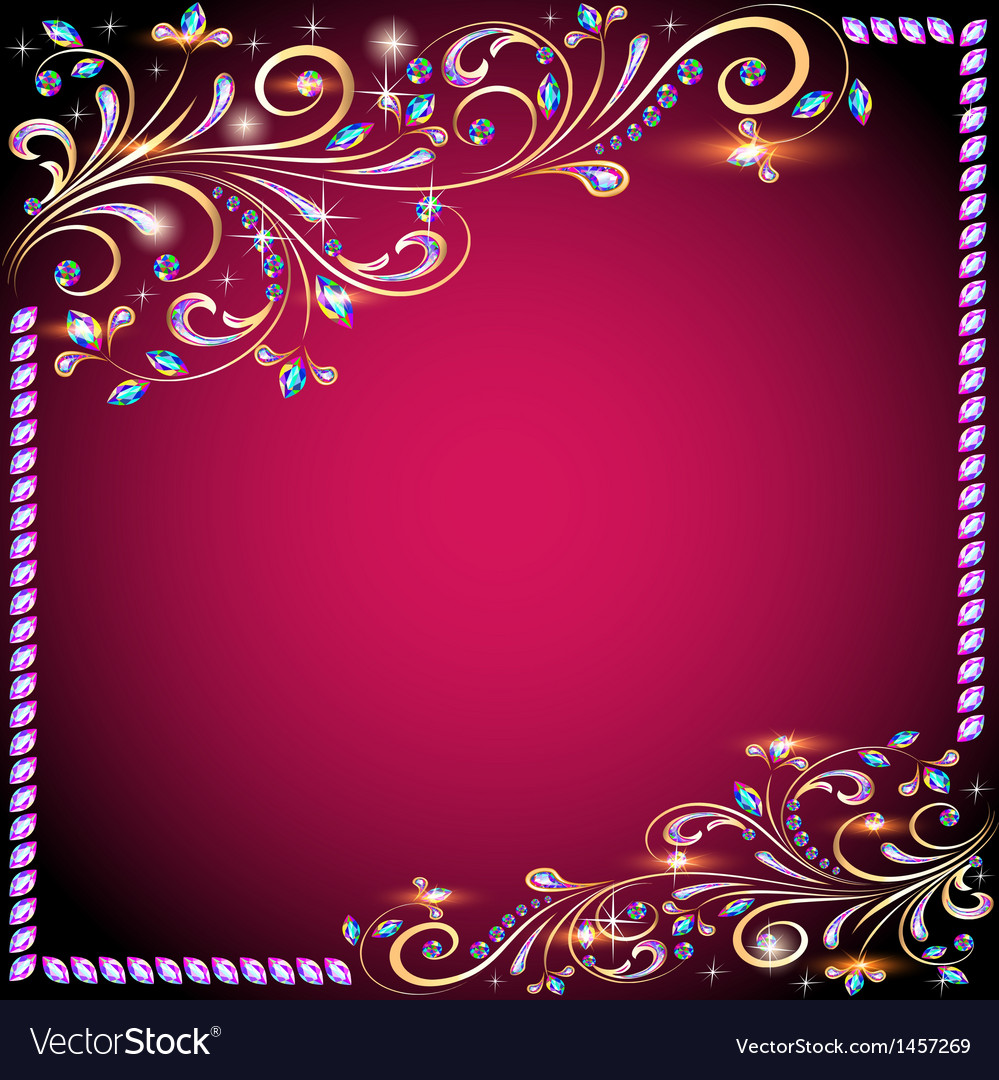 Background image with precious stones vector | Price: 1 Credit (USD $1)