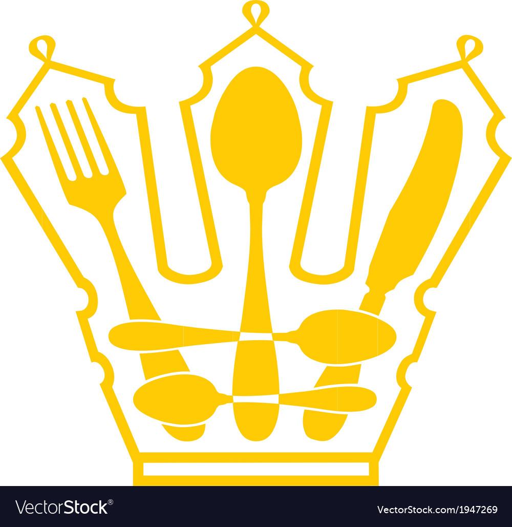 Cutlery - crown vector   Price: 1 Credit (USD $1)