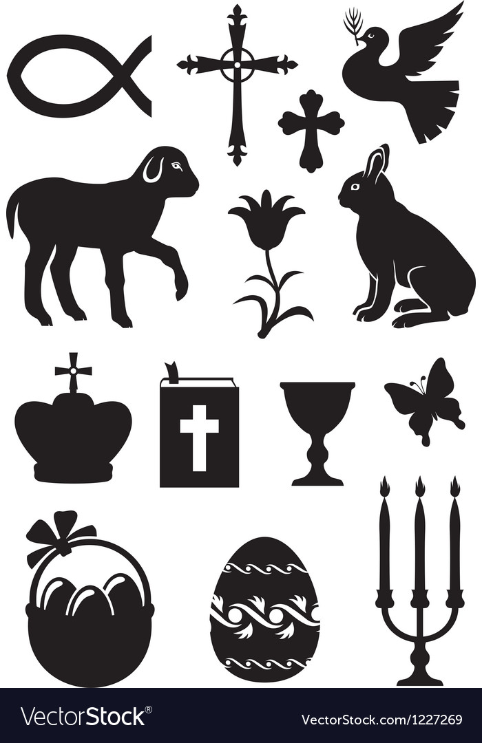 Easter set vector | Price: 1 Credit (USD $1)