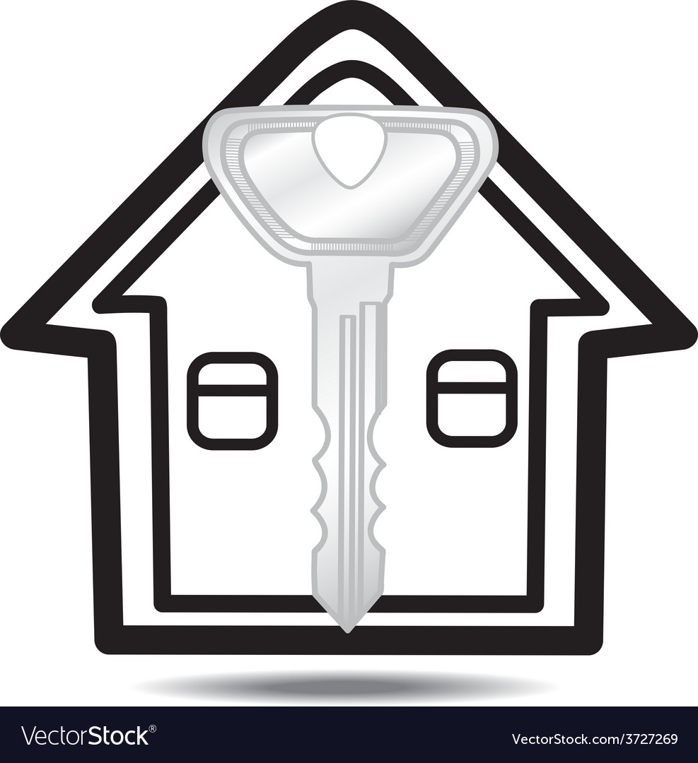 Keys and house isolated vector | Price: 1 Credit (USD $1)