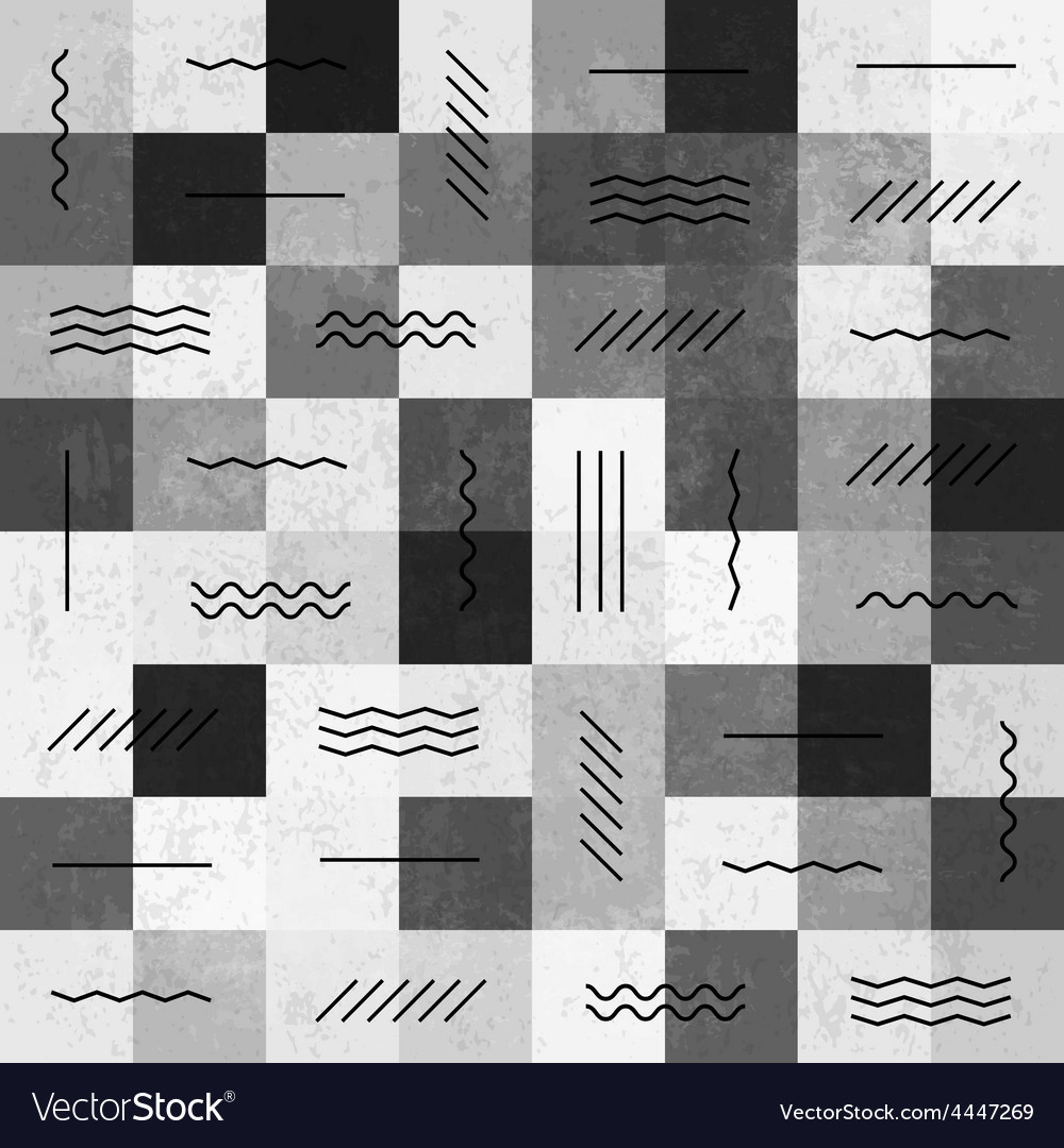 Monochrome seamless pattern with lines vector | Price: 1 Credit (USD $1)