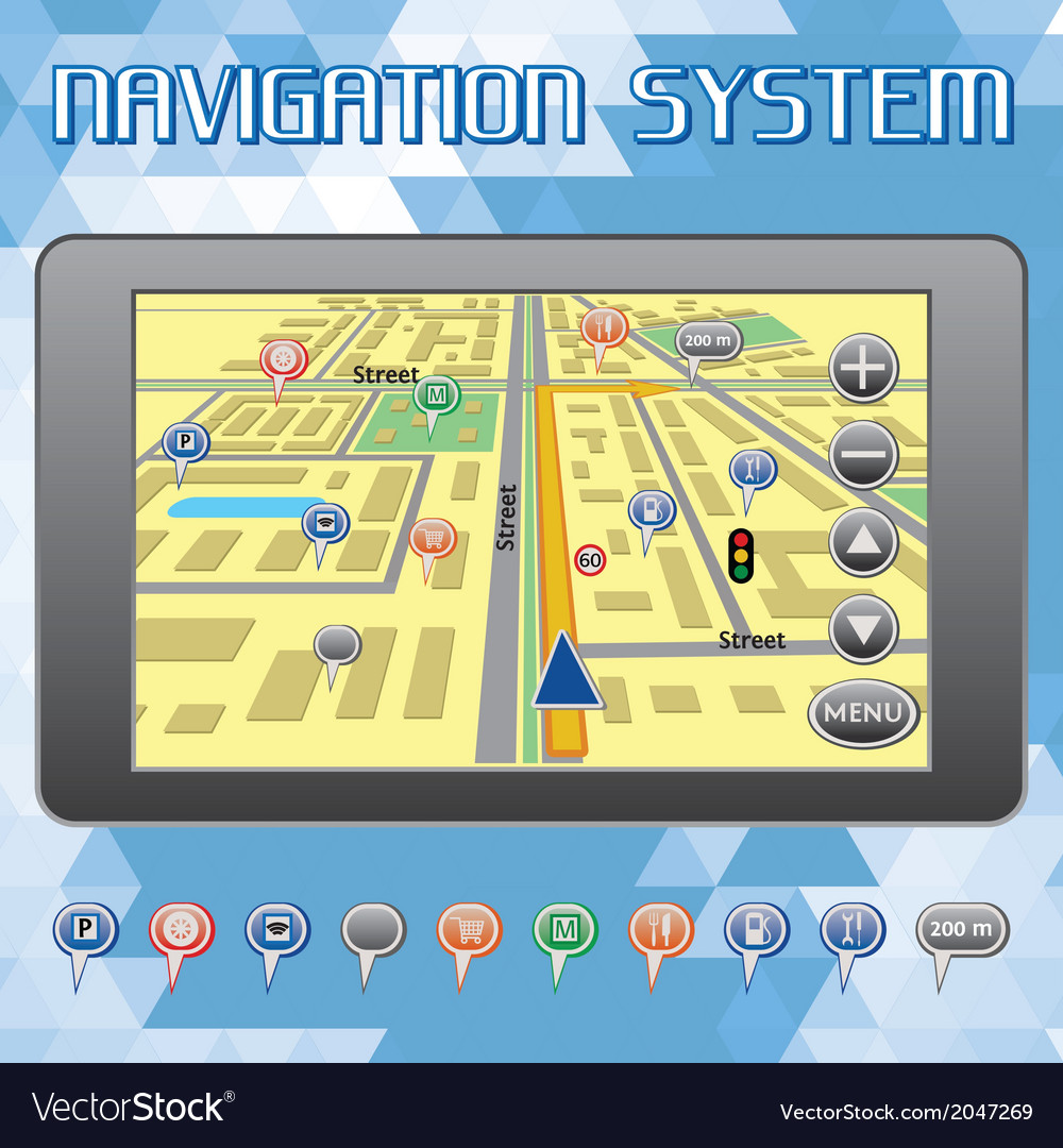 Navigation system for cars and internet vector | Price: 1 Credit (USD $1)