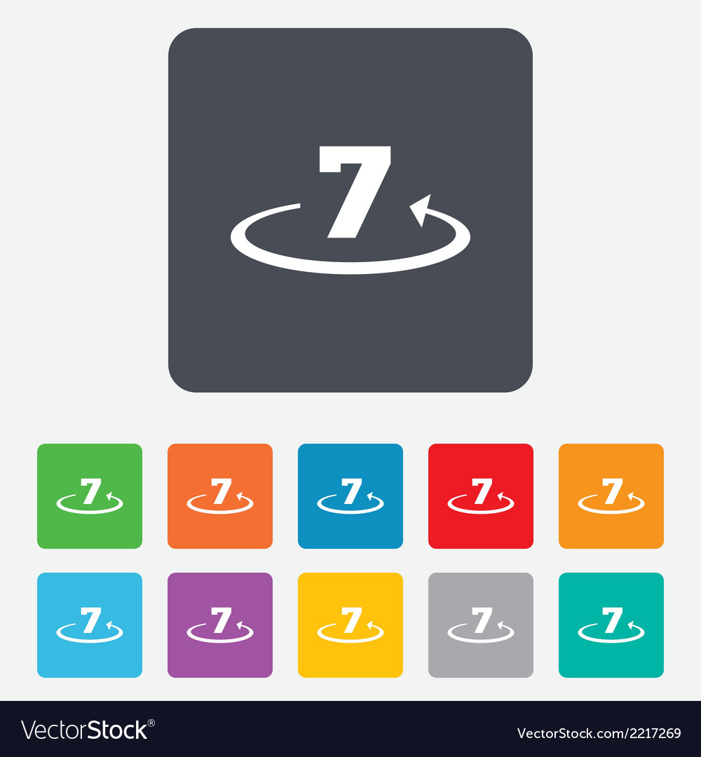 Return of goods within 7 days sign icon vector | Price: 1 Credit (USD $1)