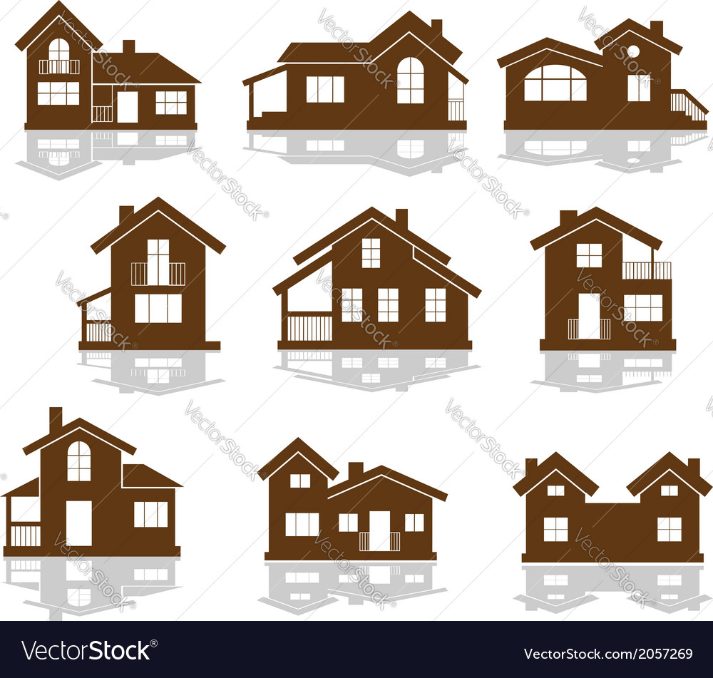 Set of apartment house icons vector | Price: 1 Credit (USD $1)