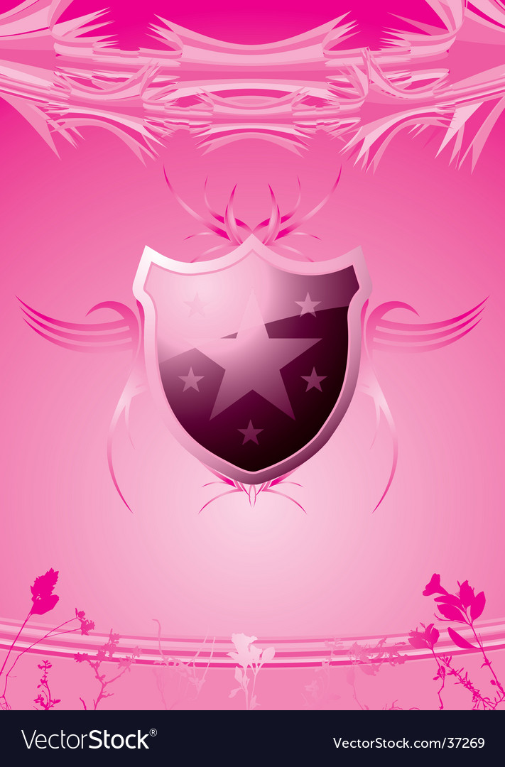 Subtle shield pink vector | Price: 1 Credit (USD $1)