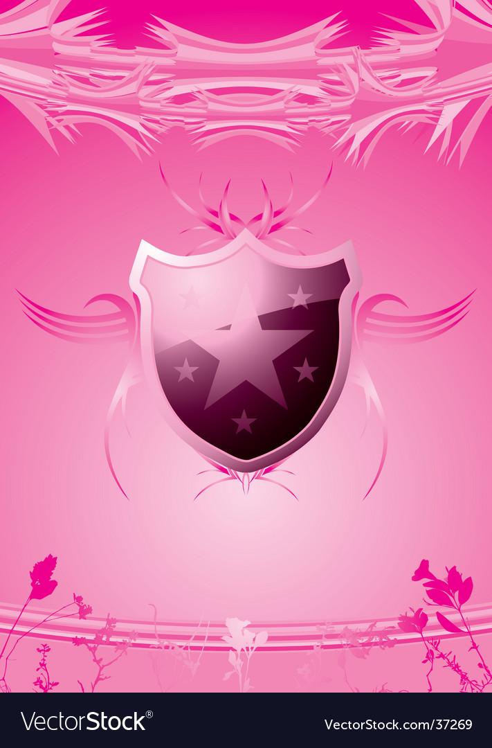 Subtle shield pink vector | Price: 1 Credit (USD $1)