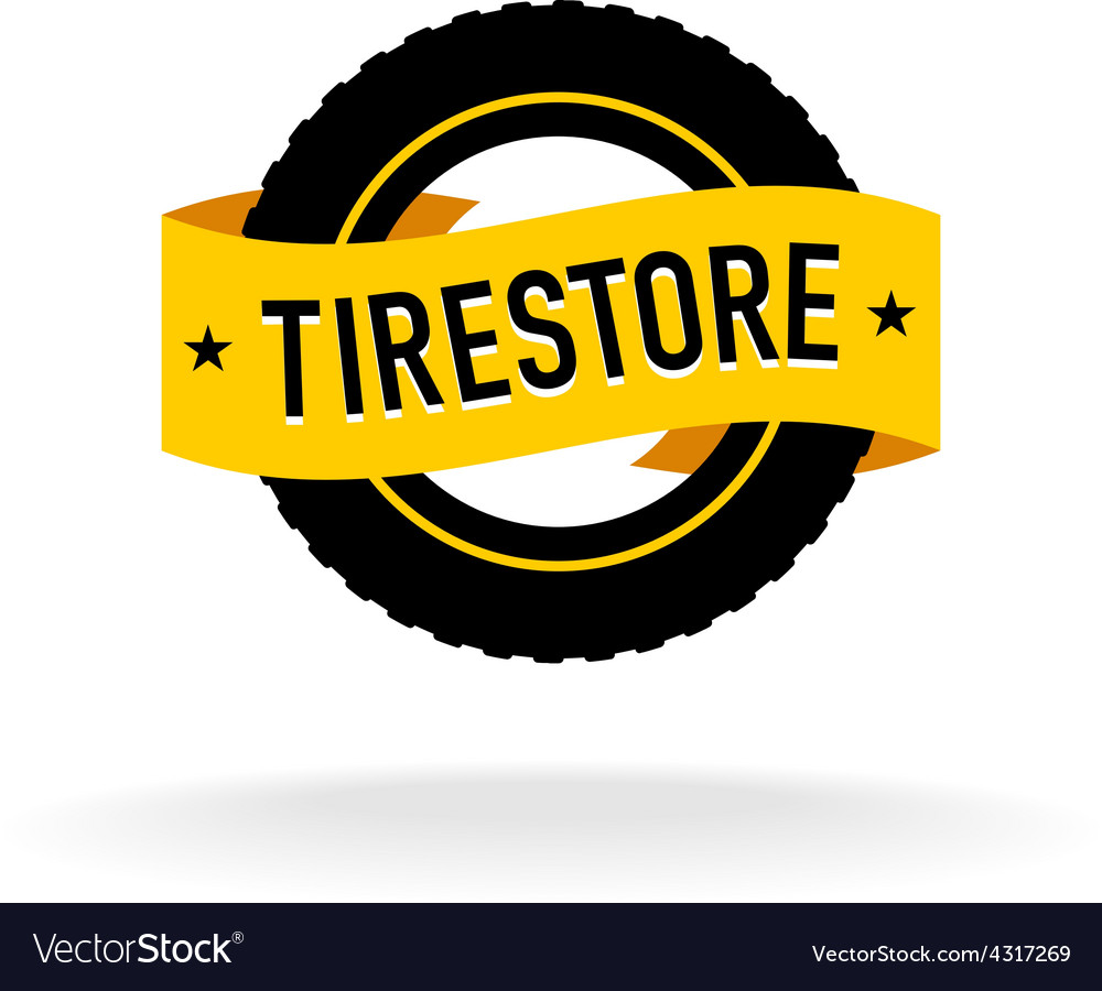 Tires store logo vector | Price: 1 Credit (USD $1)