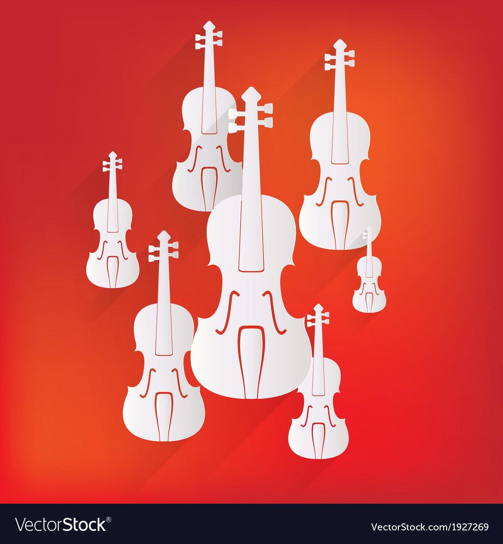 Violin icon music background vector | Price: 1 Credit (USD $1)