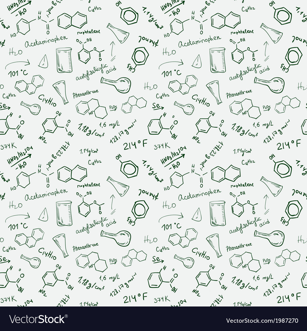 Chemistry seamless background vector | Price: 1 Credit (USD $1)