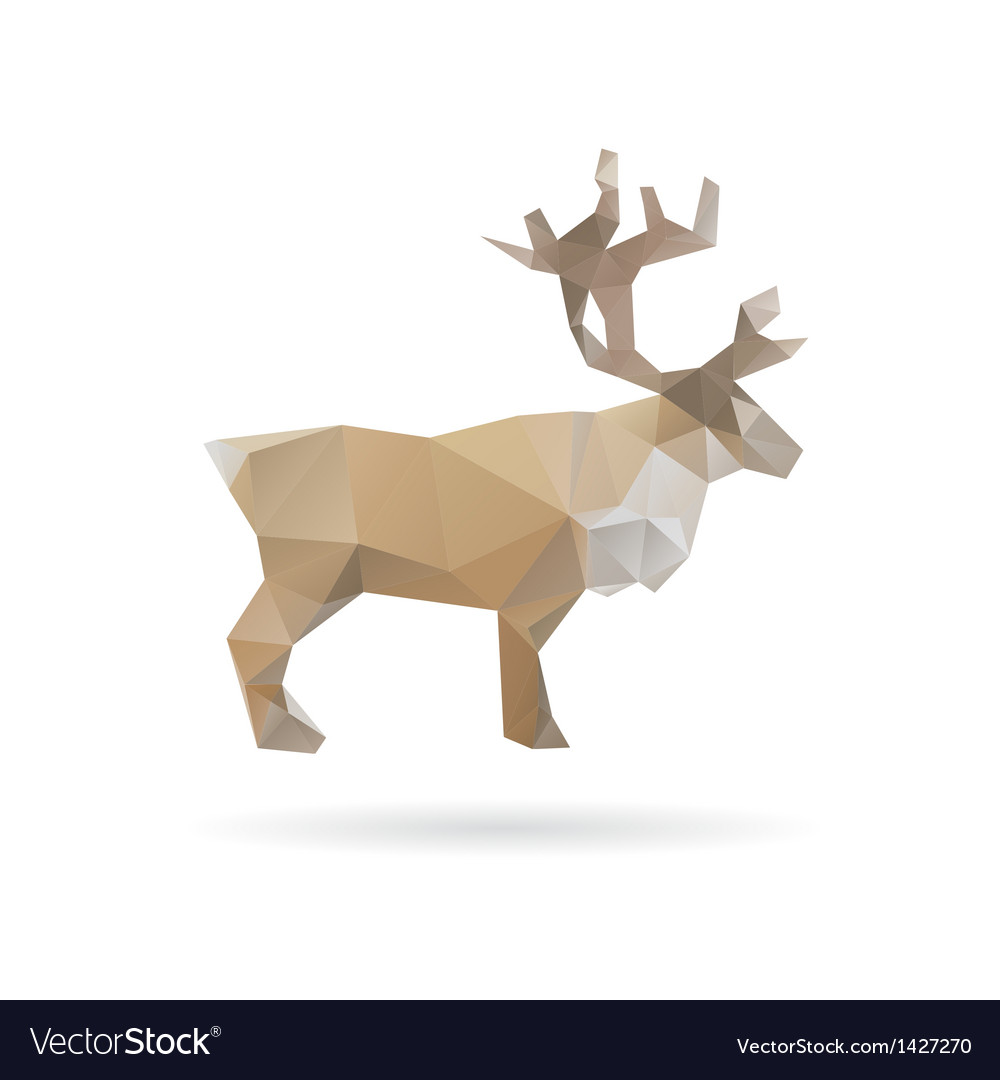 Deer abstract isolated on a white backgrounds vector | Price: 1 Credit (USD $1)