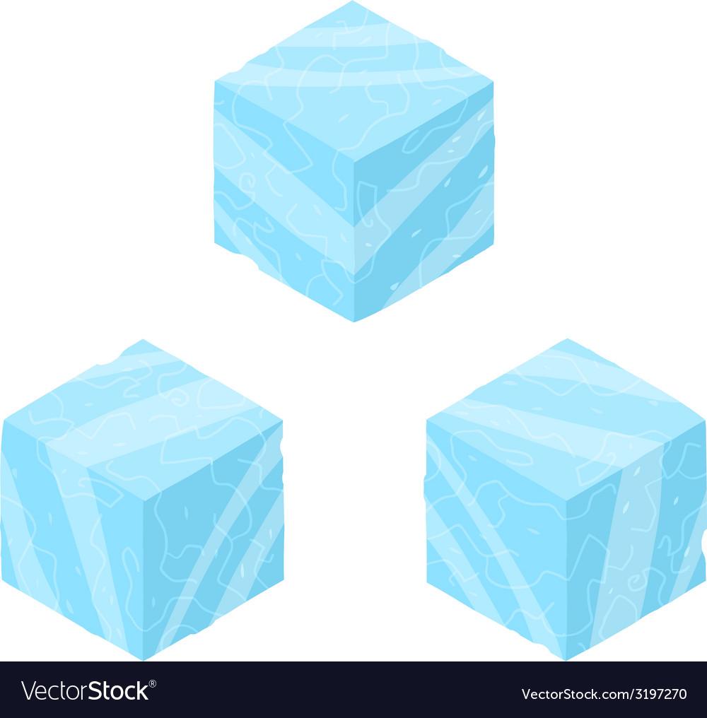 Isometric game brick cubes set vector | Price: 1 Credit (USD $1)