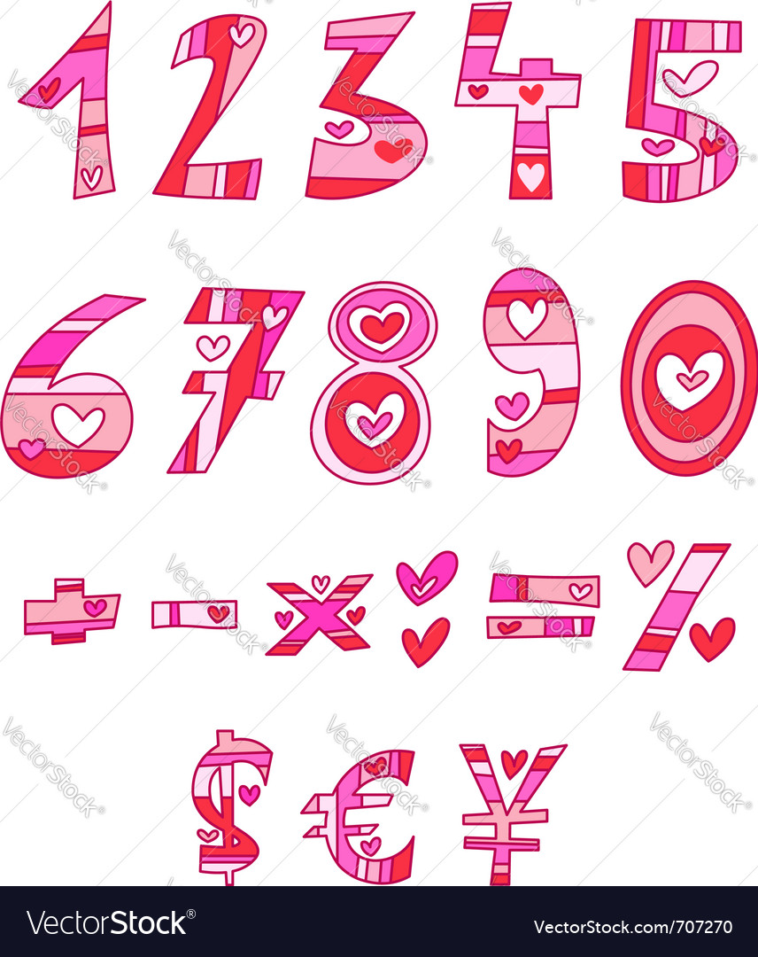 Love numbers vector | Price: 3 Credit (USD $3)