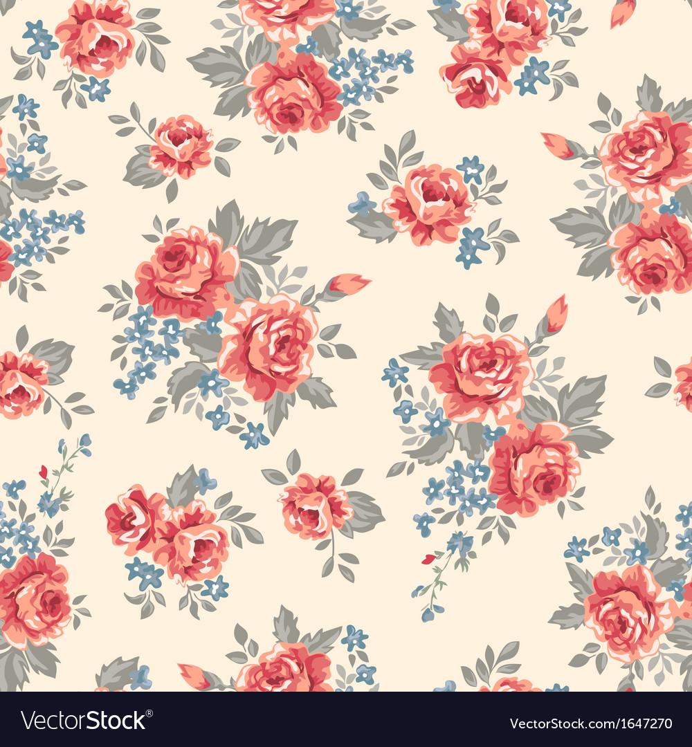 Retro classical roses vector | Price: 1 Credit (USD $1)