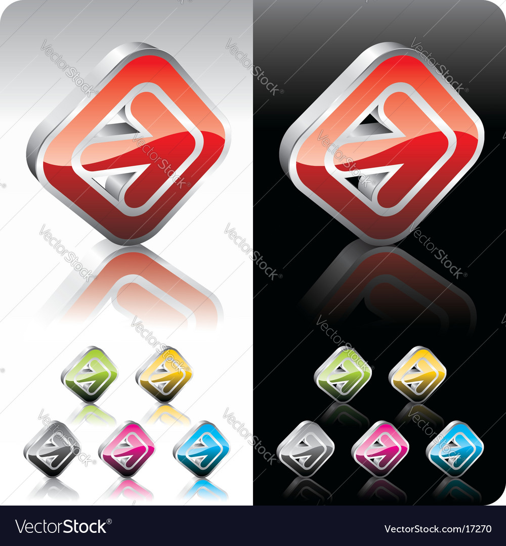 Shiny color button set vector | Price: 1 Credit (USD $1)