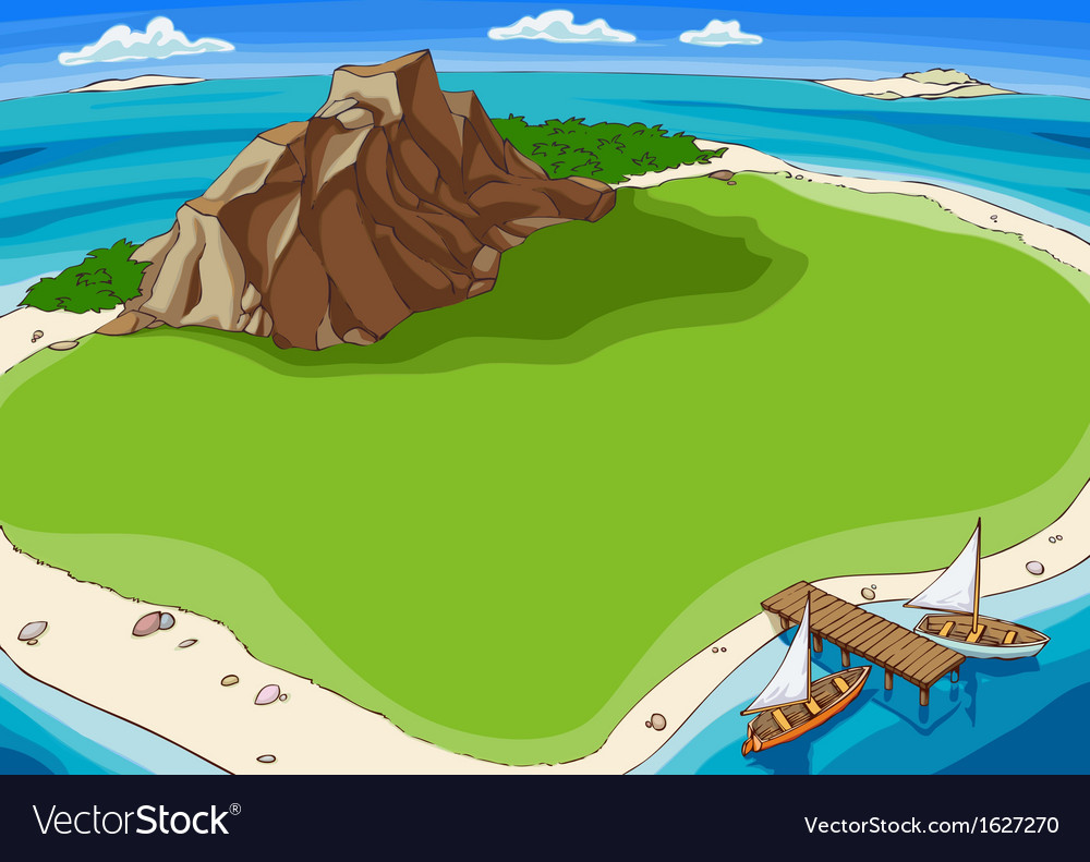 Small tropical island vector | Price: 1 Credit (USD $1)