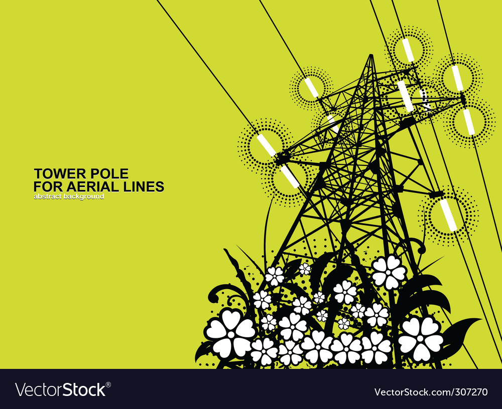 Tower pole vector | Price: 1 Credit (USD $1)