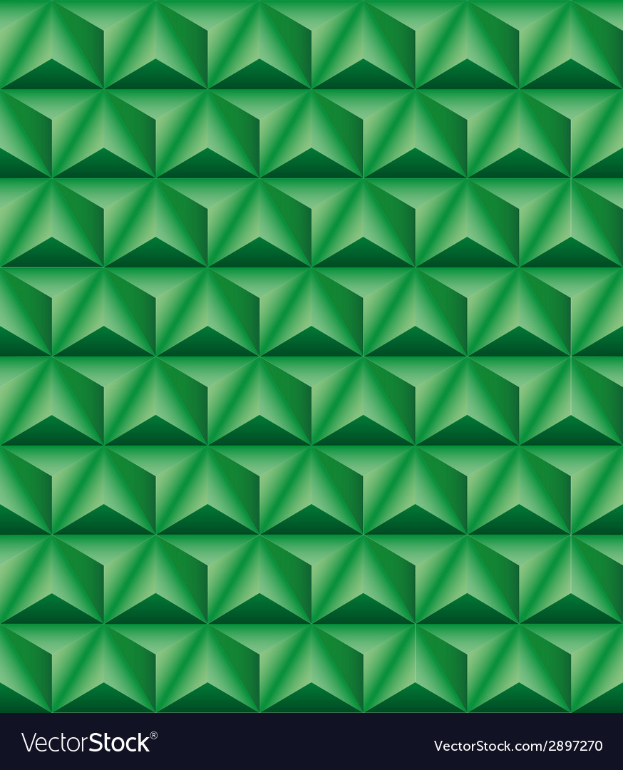Tripartite pyramid green seamless texture vector | Price: 1 Credit (USD $1)