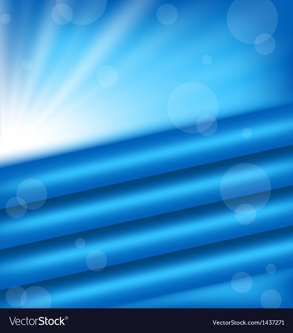 Abstract background with blue rays vector | Price: 1 Credit (USD $1)