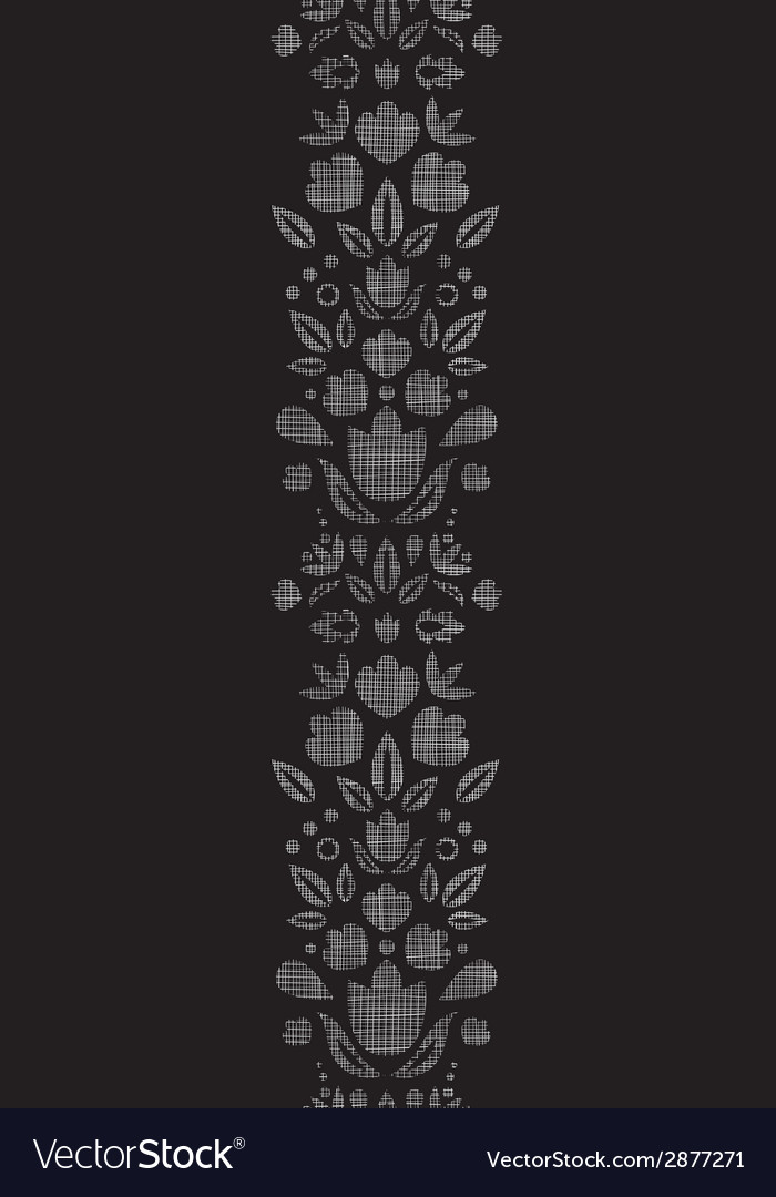 Abstract black lace ornamental tulips textile vector | Price: 1 Credit (USD $1)