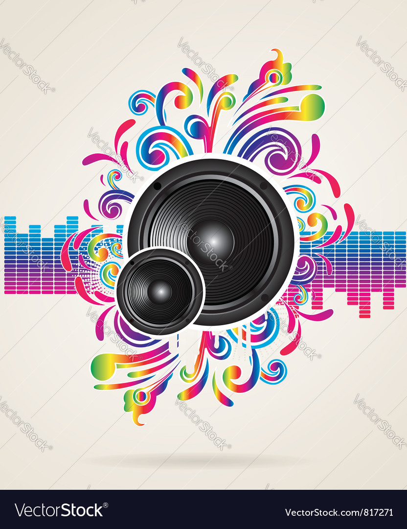 Background with equilizer rainbow vector | Price: 1 Credit (USD $1)
